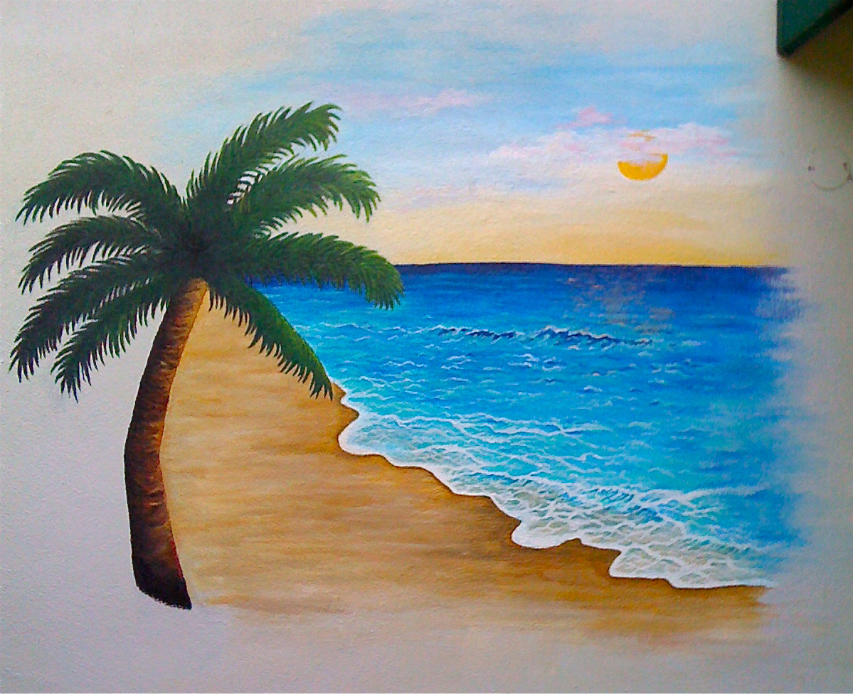 Paintings jacqueline hayes for Beach mural painting